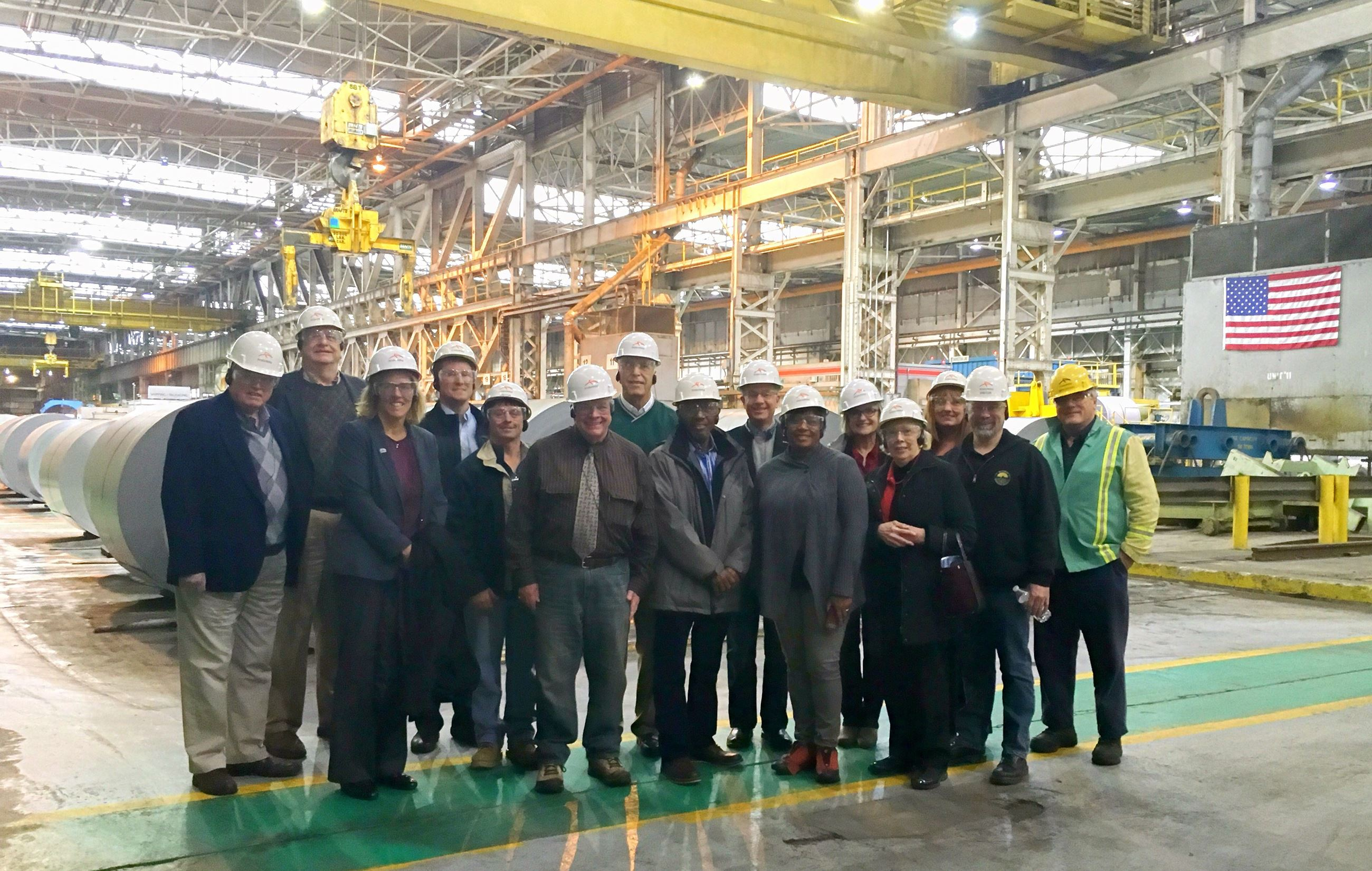 Mayors at Arcelor Mittal Steel plant